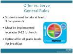 offer vs serve general rules
