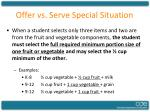 offer vs serve special situation