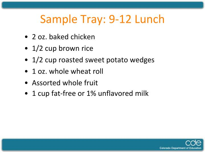 Sample Tray: 9-12 Lunch