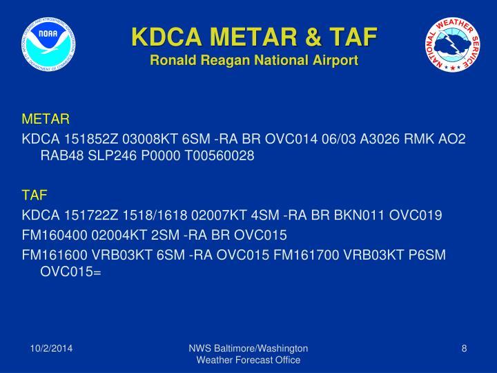 KDCA METAR & TAF