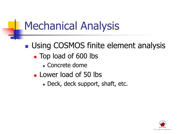 Mechanical Analysis