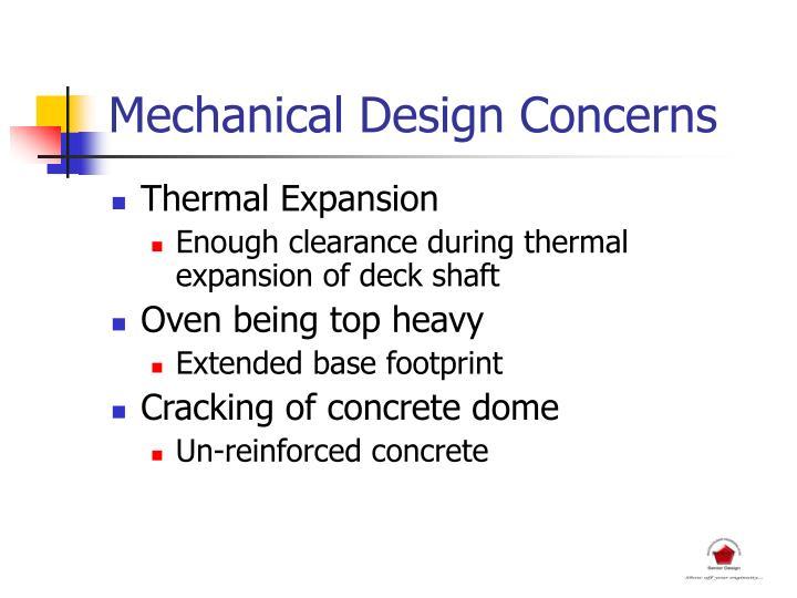 Mechanical Design Concerns