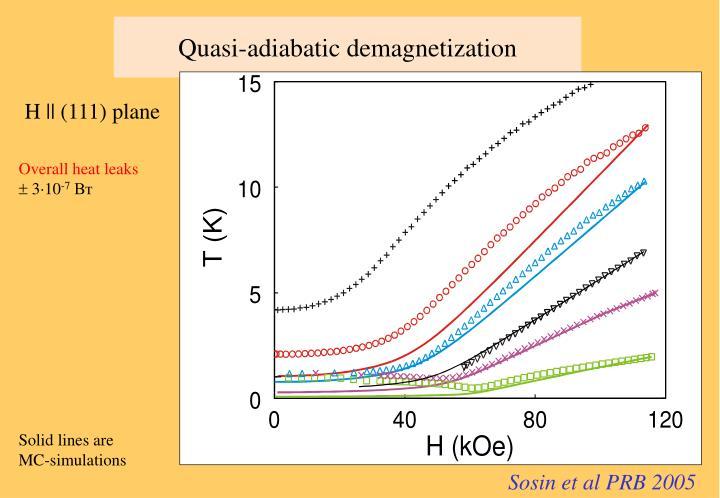 Quasi-adiabatic demagnetization