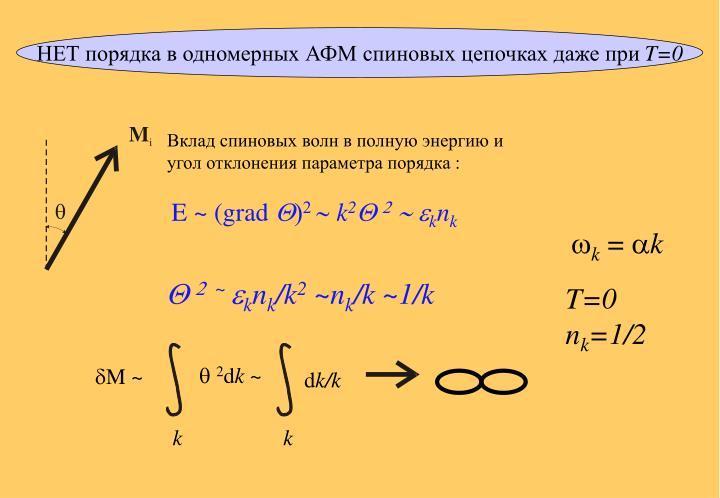 НЕТ порядка в одномерных АФМ спиновых цепочках даже при