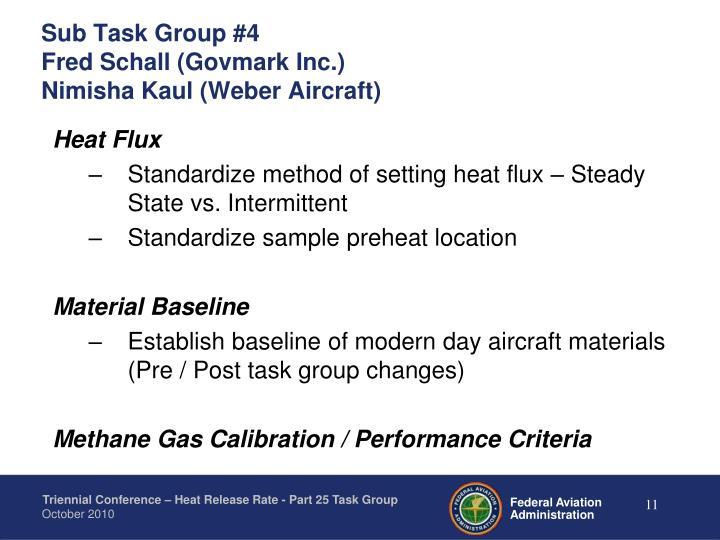 Sub Task Group #4
