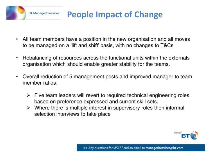 People Impact of Change