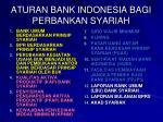 aturan bank indonesia bagi perbankan syariah