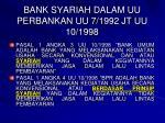 bank syariah dalam uu perbankan uu 7 1992 jt uu 10 1998
