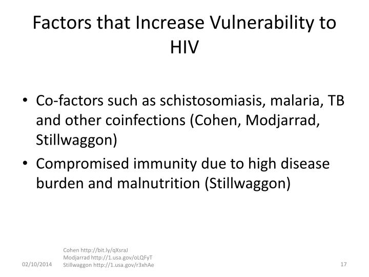 Factors that Increase Vulnerability to HIV