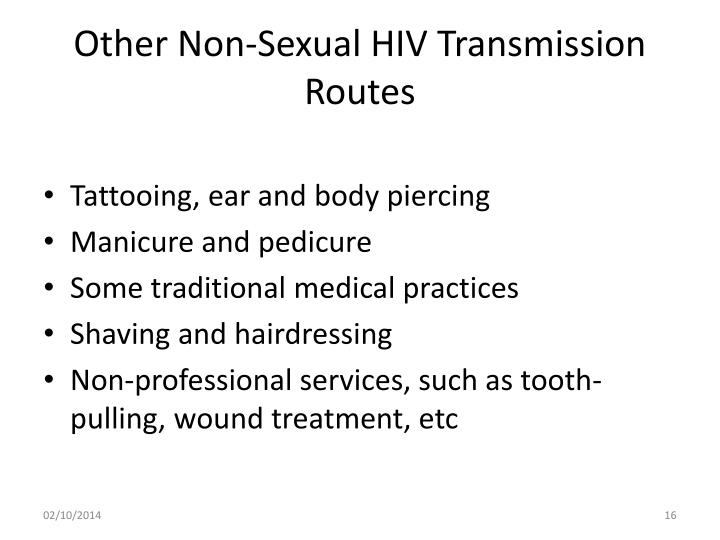 Other Non-Sexual HIV Transmission Routes