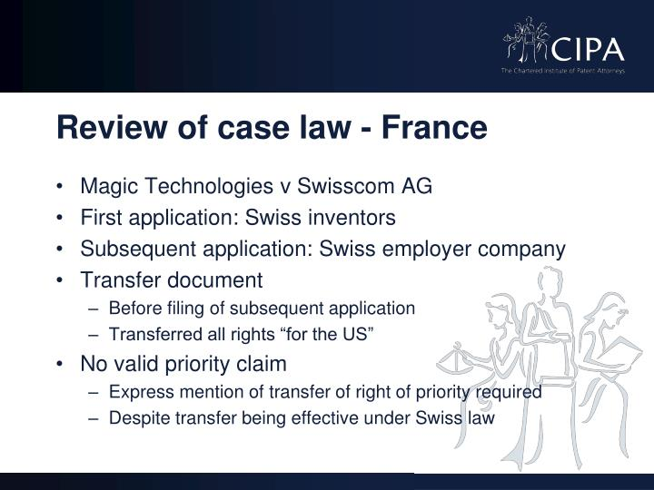 Review of case law - France
