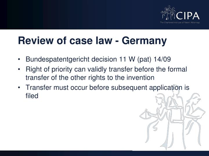 Review of case law - Germany