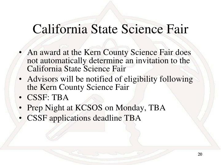 California State Science Fair