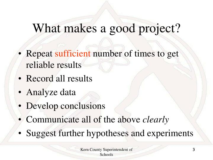 What makes a good project1