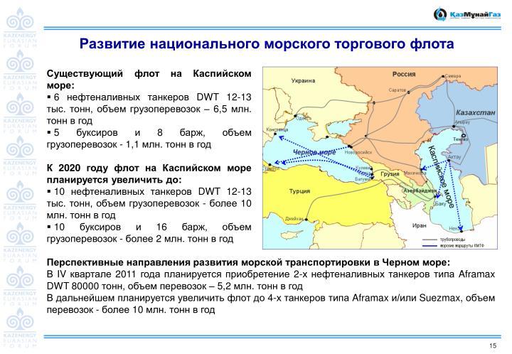 Развитие национального морского торгового флота