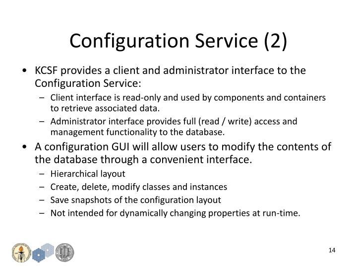 Configuration Service (2)