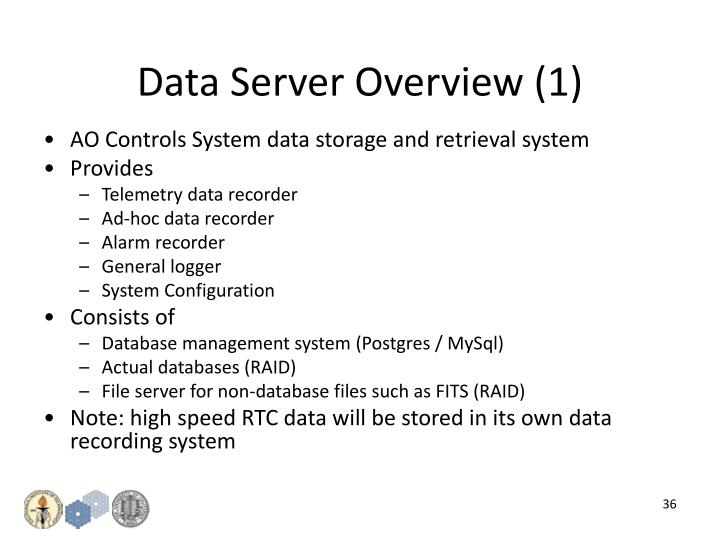 Data Server Overview (1)