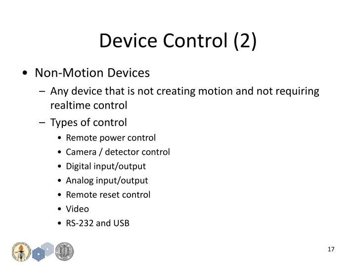 Device Control (2)