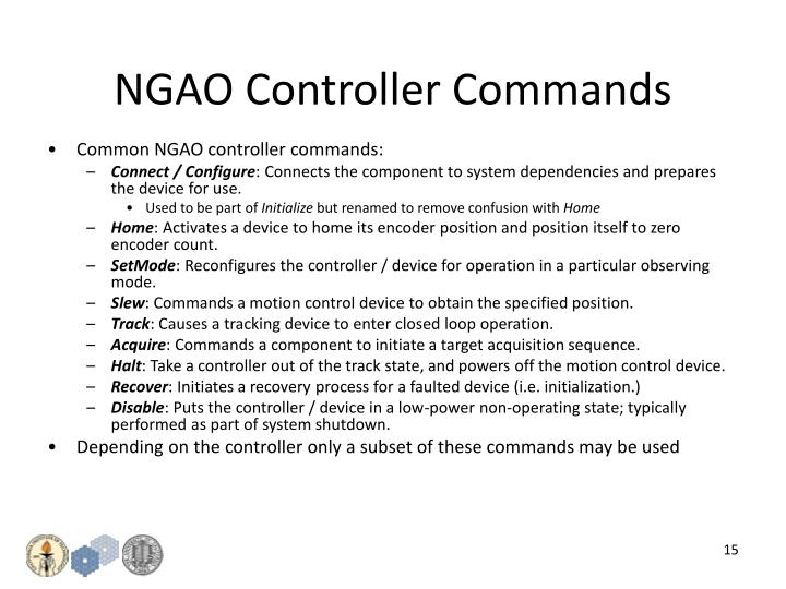 NGAO Controller Commands