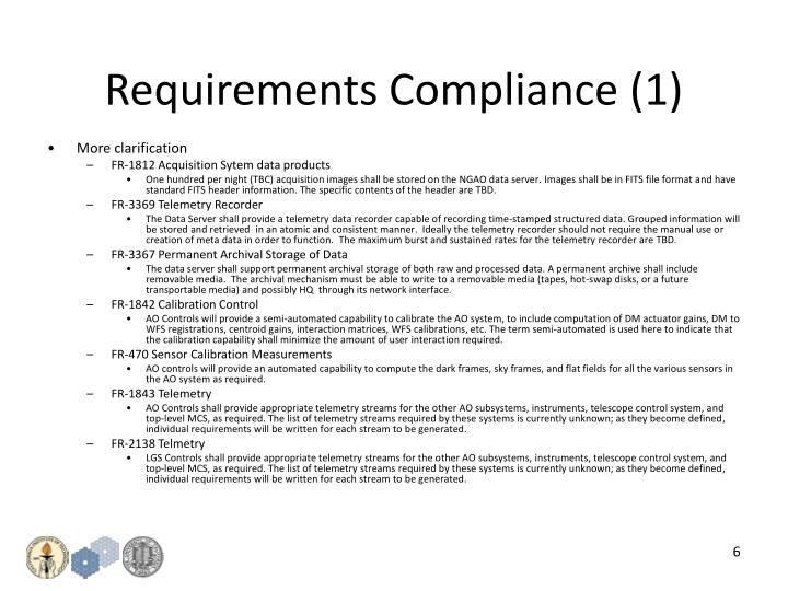Requirements Compliance (1)