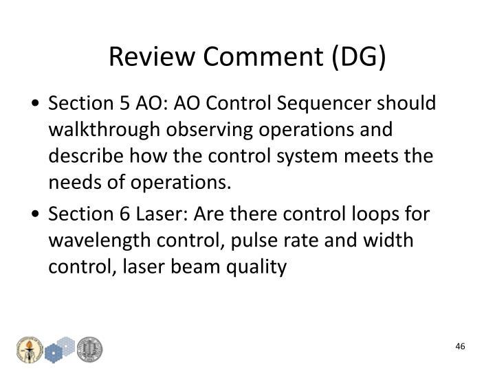 Review Comment (DG)