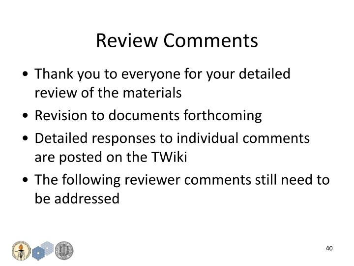 Review Comments