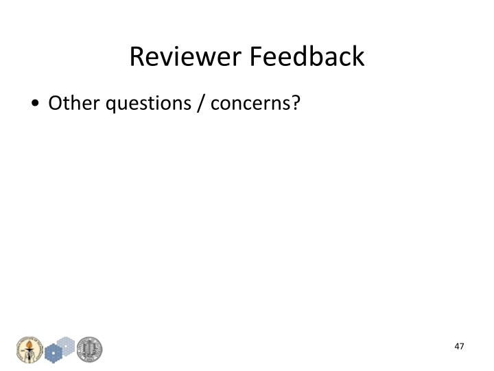 Reviewer Feedback