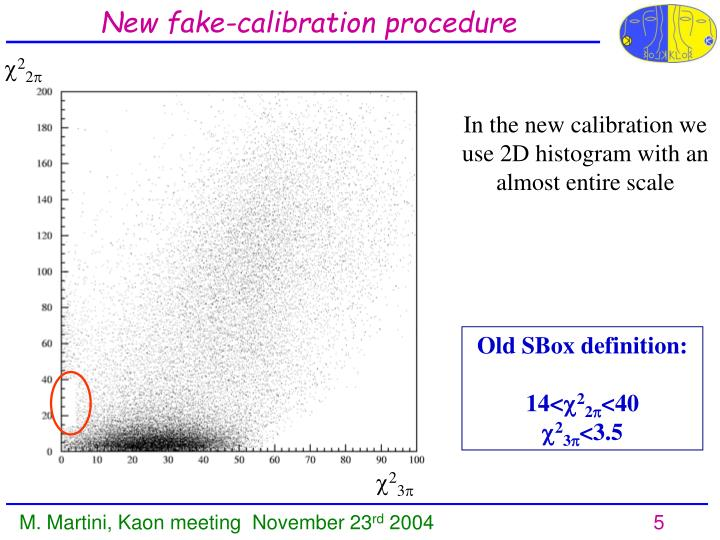 New fake-calibration procedure