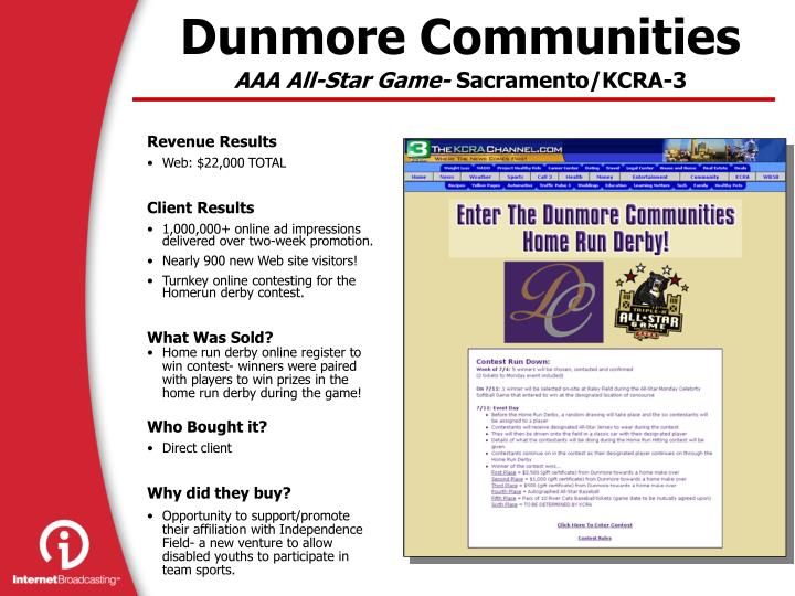 Dunmore Communities