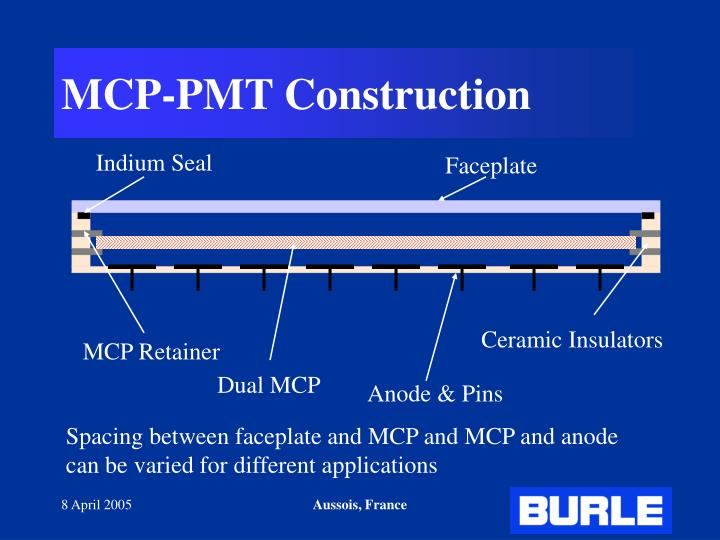 MCP-PMT Construction