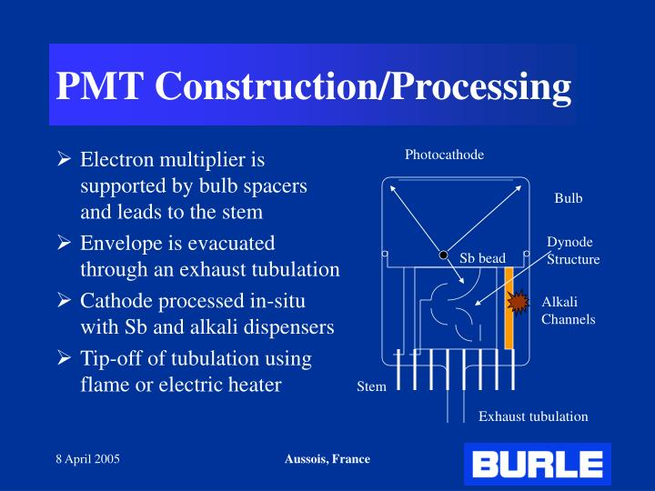 PMT Construction/Processing