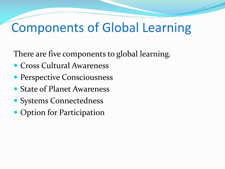 Components of global learning