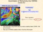 assimilation of refractivity into vdras