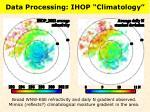data processing ihop climatology