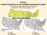 future install refractivity on all available operational radars