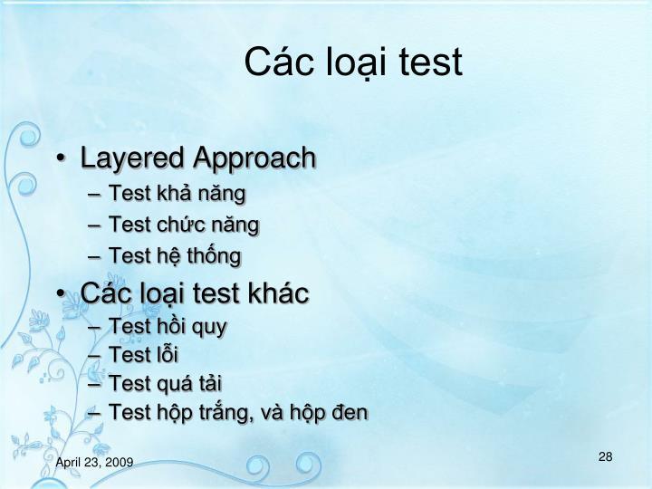 Cc loi test