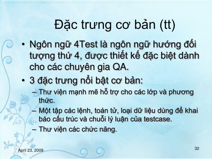 c trng c bn (tt)