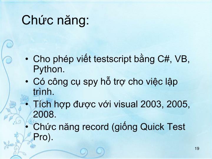 Chc nng: