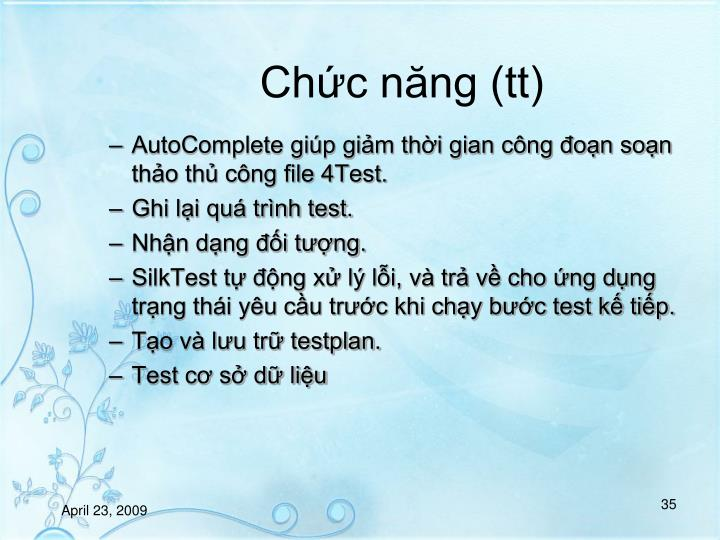Chc nng (tt)