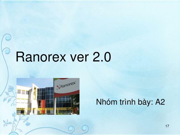 Ranorex ver 2.0