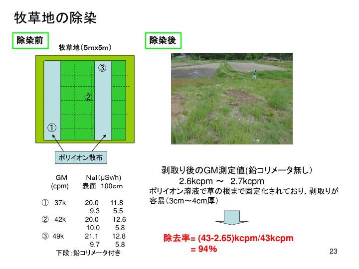 牧草地の除染