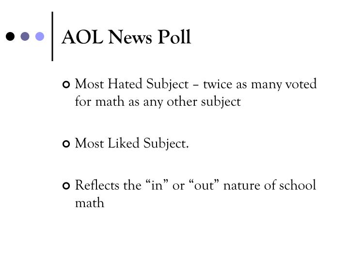 AOL News Poll