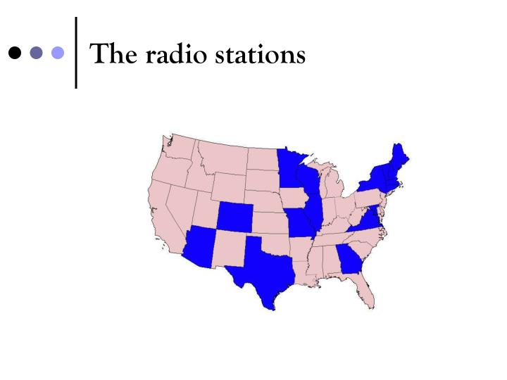 The radio stations