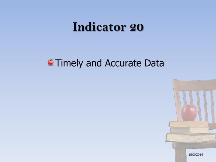 Indicator 20