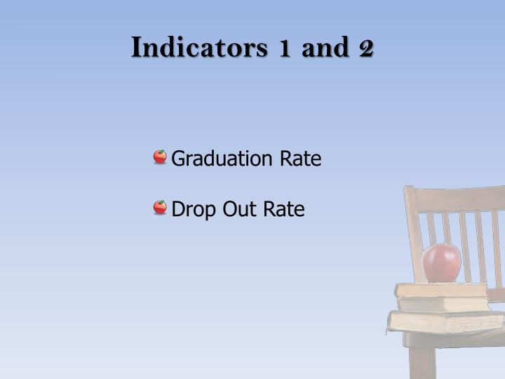 Indicators 1 and 2