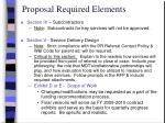 proposal required elements1