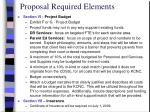 proposal required elements3