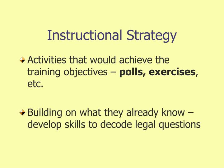 Instructional Strategy