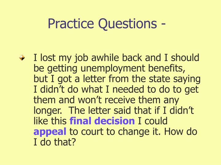 Practice Questions -
