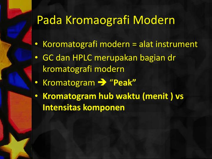 Pada Kromaografi Modern